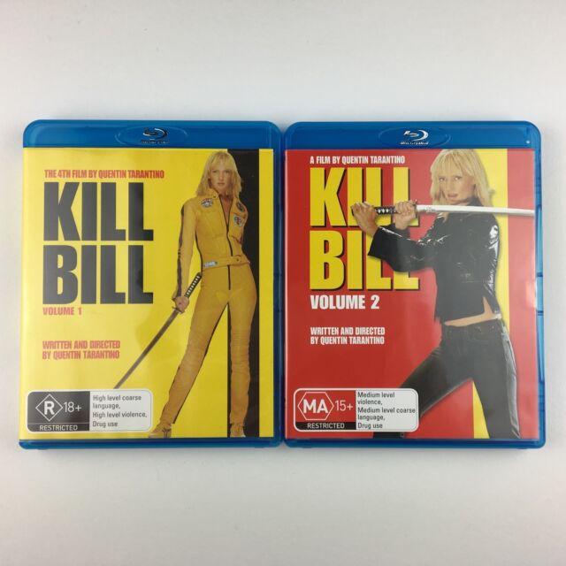 Kill Bill Vol.1/Kill Bill Vol.2 (Blu-ray, 2008) *Australian Import Region Free*