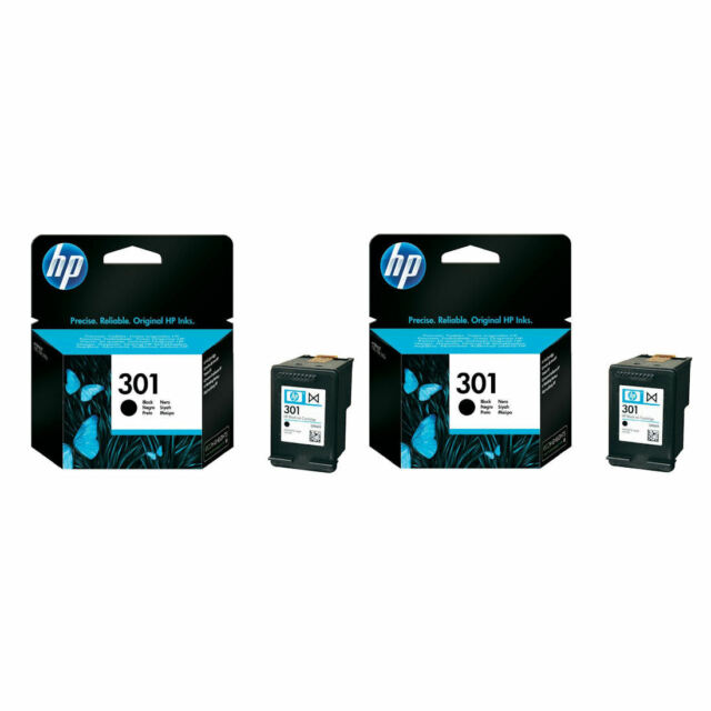 2x Genuine Original HP 301 Black Ink Cartridges For Deskjet 3000 Inkjet Printer
