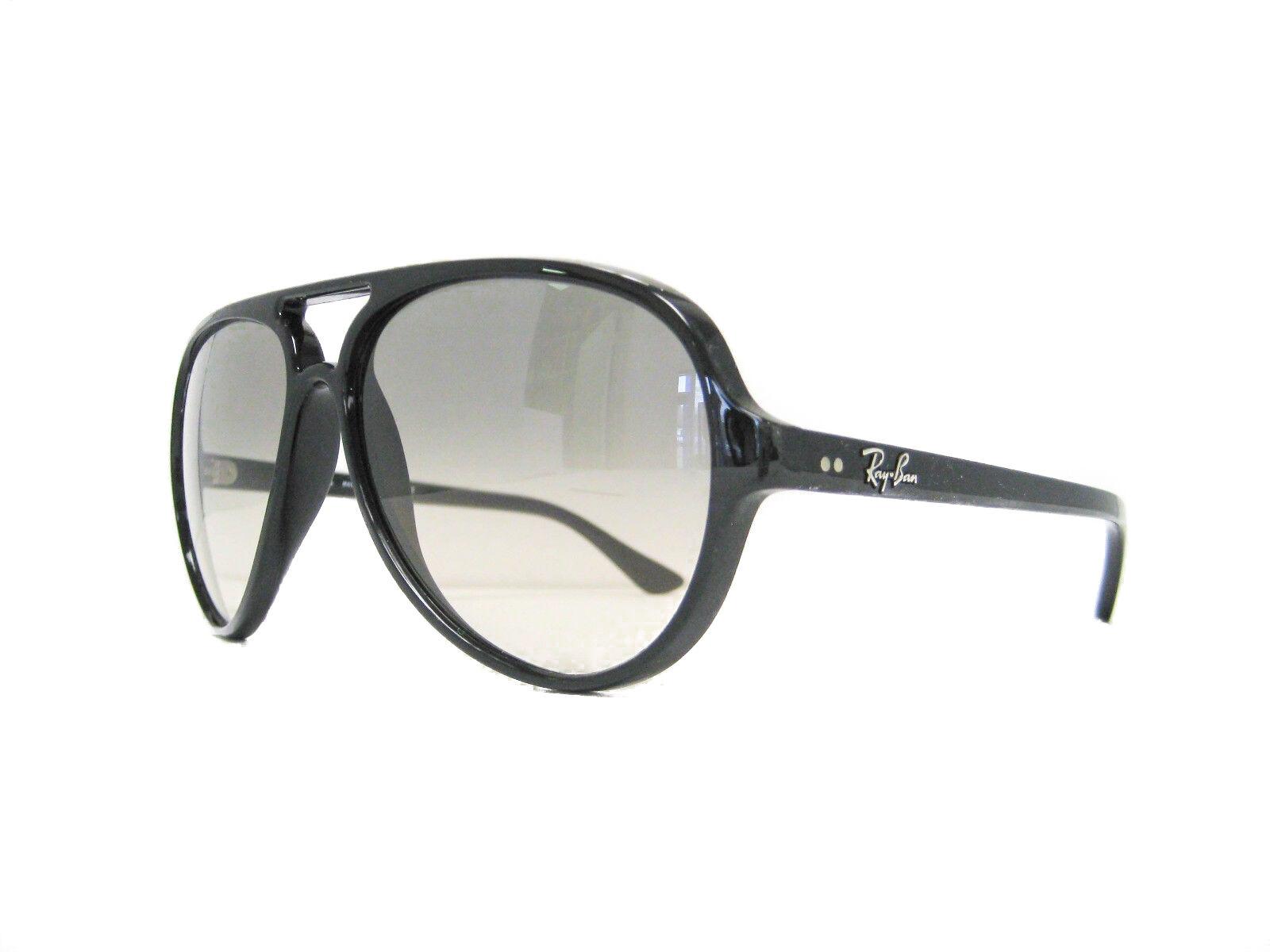 NEW Ray-Ban RB 4125 Black 601 32 Cats 5000 Sunglasses Black Grey ...
