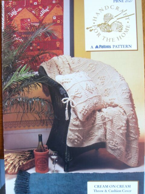 Patons Handcraft For Home Knitting Pattern 2127 Throw Cushion
