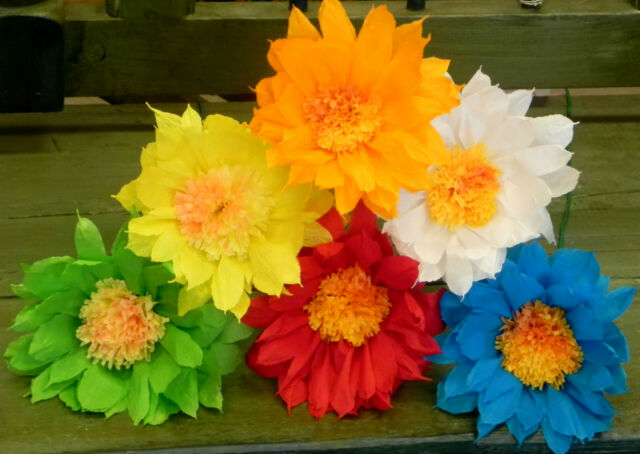 Mexican crepe paper flowers set of 6 multicolor daisywe make mexican crepe paper flowers set of 6 multicolor daisywe make special orders mightylinksfo