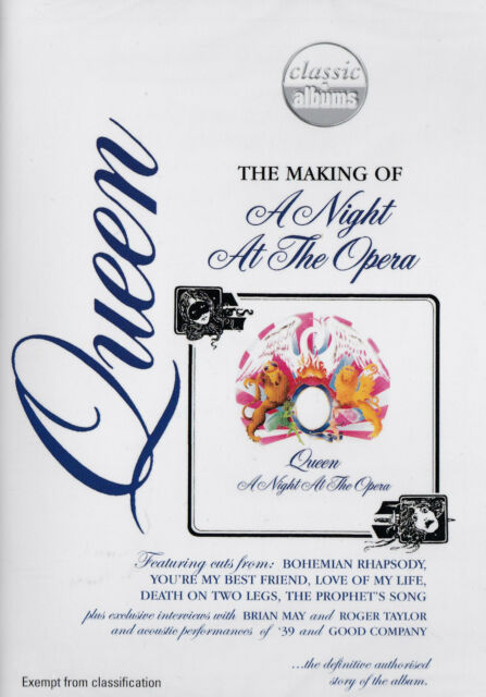 [BRAND NEW] DVD: QUEEN: THE MAKING OF A NIGHT AT THE OPERA
