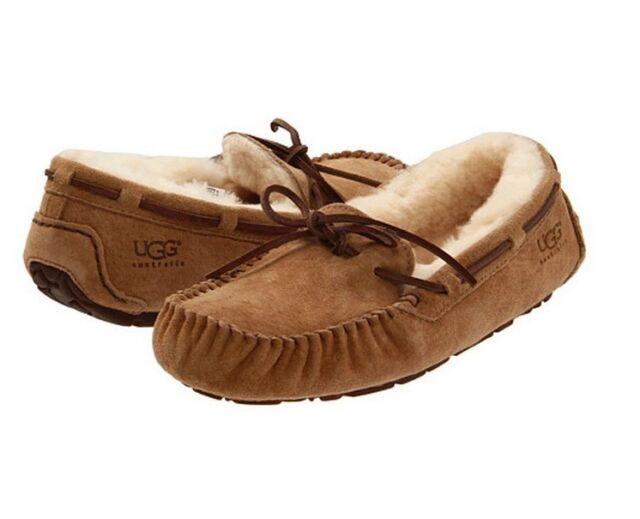 UGG Women's Dakota Moccasin Suede Slippers - Chestnut - UK 6.5 SCsPQ