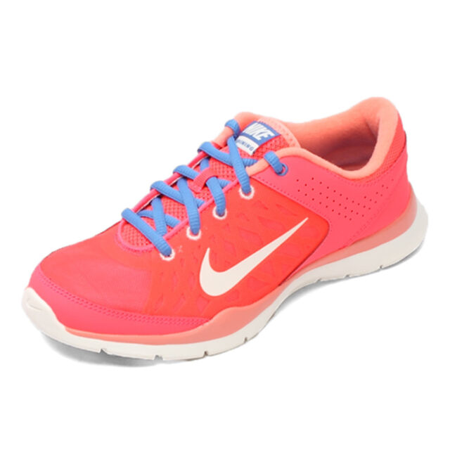 NIKE FLEX TRAINER 3 WOMEN'S RED/PINK/BLUE RUNNING SHOES #580374-602