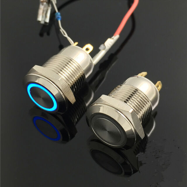 12v 12mm Metal Waterproof Power Symbol Push Button Switch Onoff Ebay