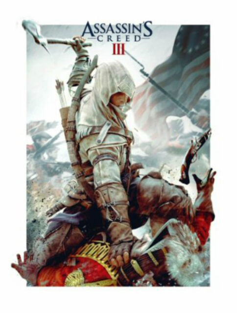 ASSASSIN'S CREED 3 VIDEO GAME 3D POSTER RETRO LARGE  48cm x 67cm GAMERS