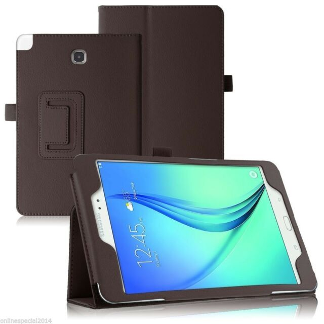 2  FOLD  Flip case cover stand Samsung Galaxy Tab A 9.7  T550 T551 T555  BROWN