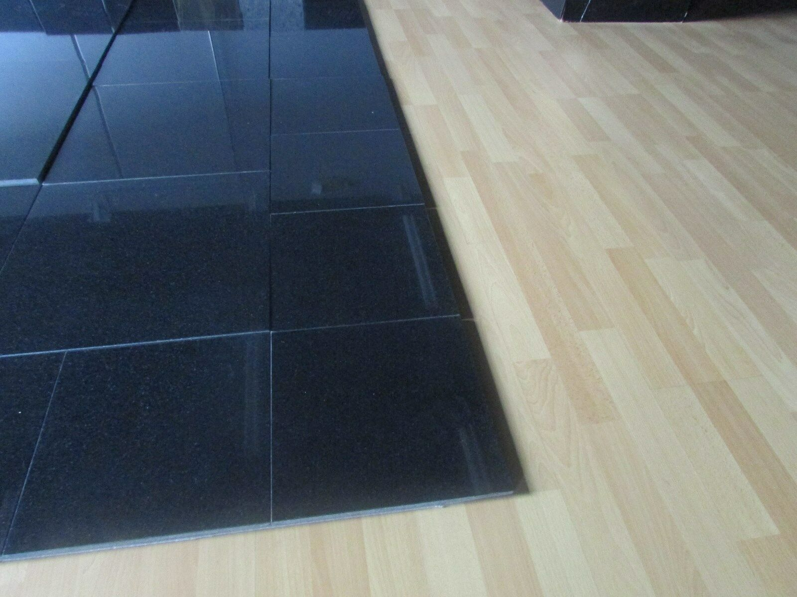 Granite Floor Tiles In Polished Black Absolute Size 12x12x1cm Ebay