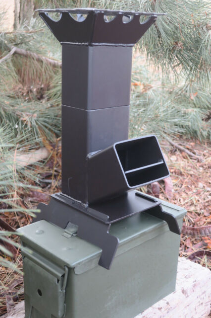 Shadrach v2 portable rocket stove and 50 cal ammo can for Best rocket stove design ever