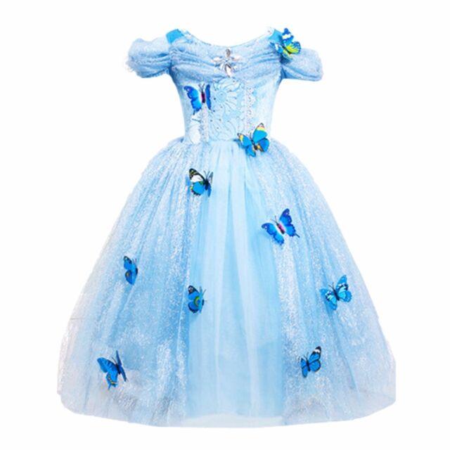 Disney Store Cinderella Light Up Costume Fancy Dress: Cinderella Butterfly Party Girls Costume Halloween Fancy