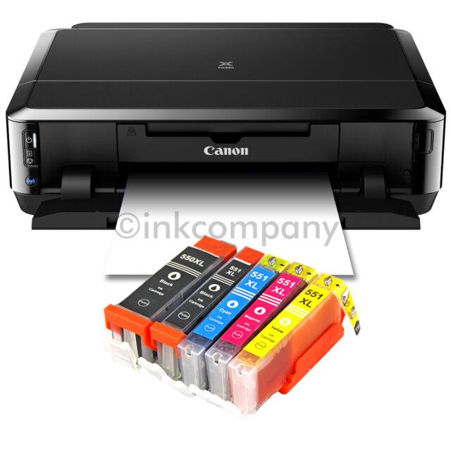 CANON PIXMA IP7250 STAMPANTE A GETTO DI INCHIOSTRO FOTO cd-bedruck + 5x XL