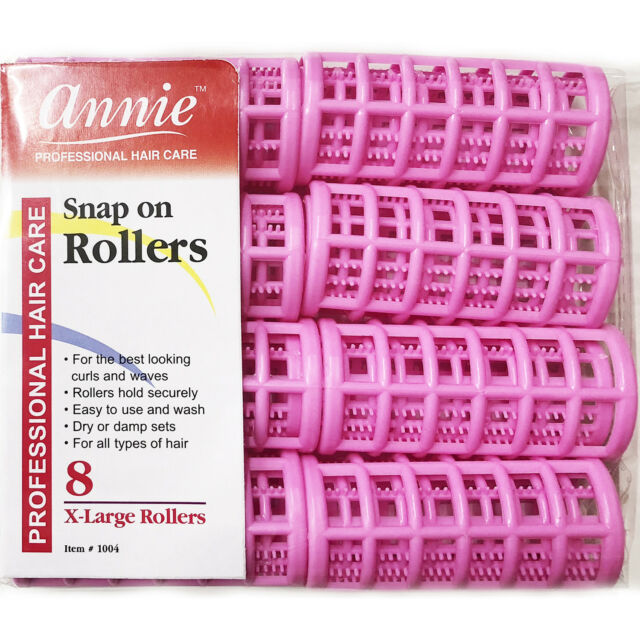 Annie Snap On Rollers 1004 8 Count Pink X Large 1