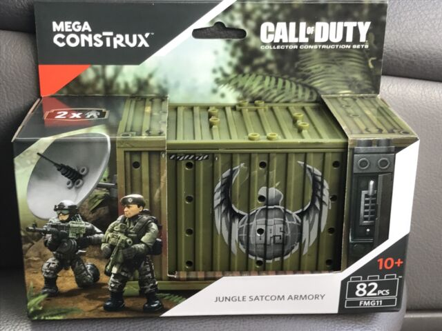 2 Figures Mega Construx Call of Duty WWII WW2 ARMORY Building Set FVG02