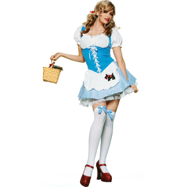 Sexy Halloween Adult Dorothy Wizard of Oz Costume Size Small  sc 1 st  eBay & Womens Wizard of Oz Dorothy Costume Sz Small Leg Avenue Ha177 | eBay
