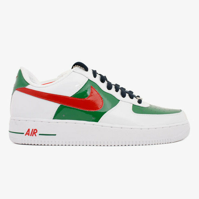 Nike Unisex's Casual Shoes Air Force One Premium (World Cup Mexico) White / Sport Red - Pine Green O