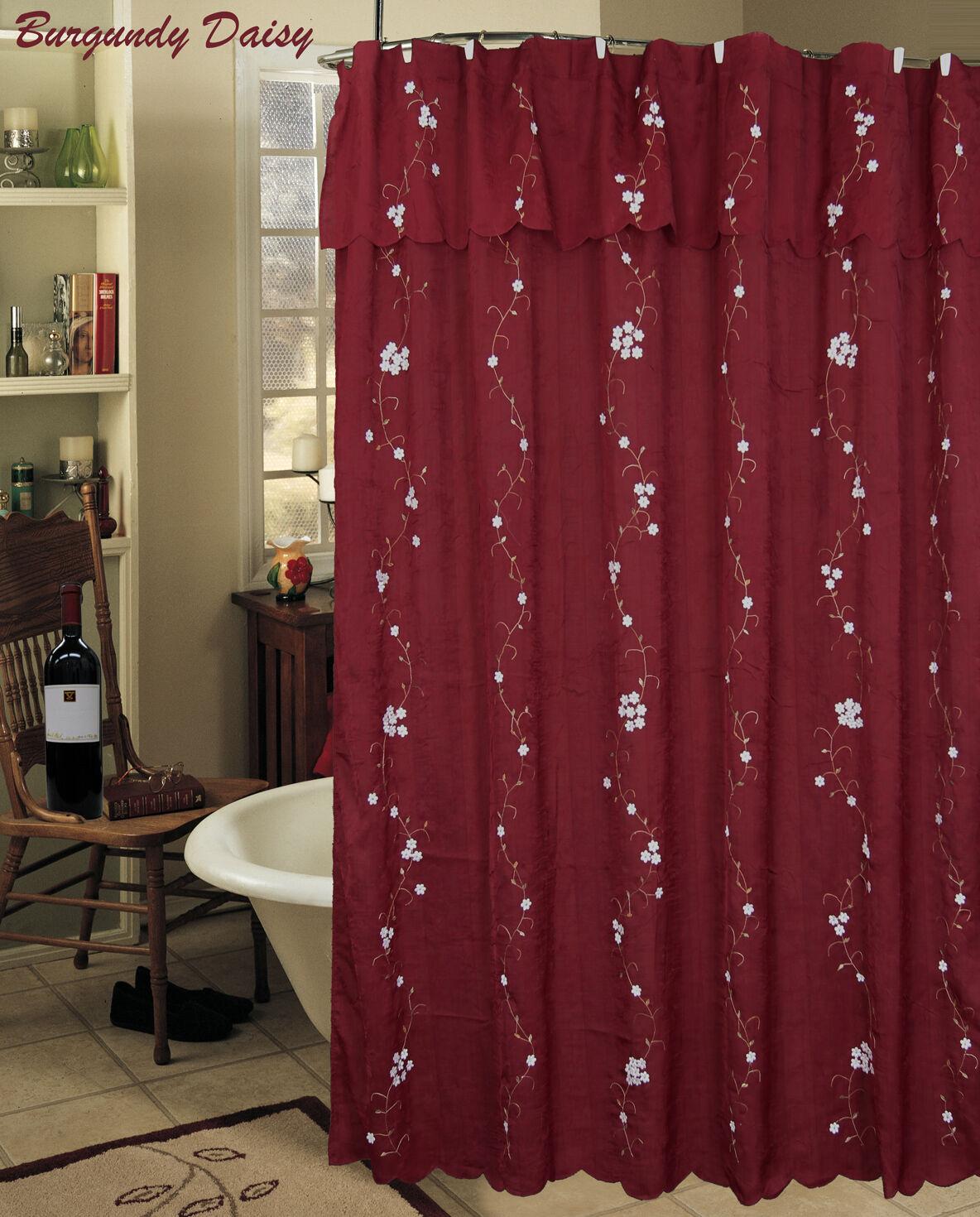 Daisy Embroidery 3d Fabric Shower Curtain Creative Linens S&h ...