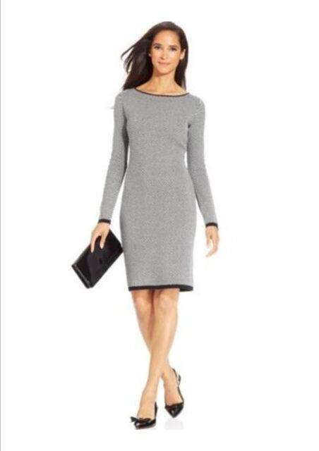 Charter Club Plus Size Dress 3x Chevron Printed Sweater Knit Deep