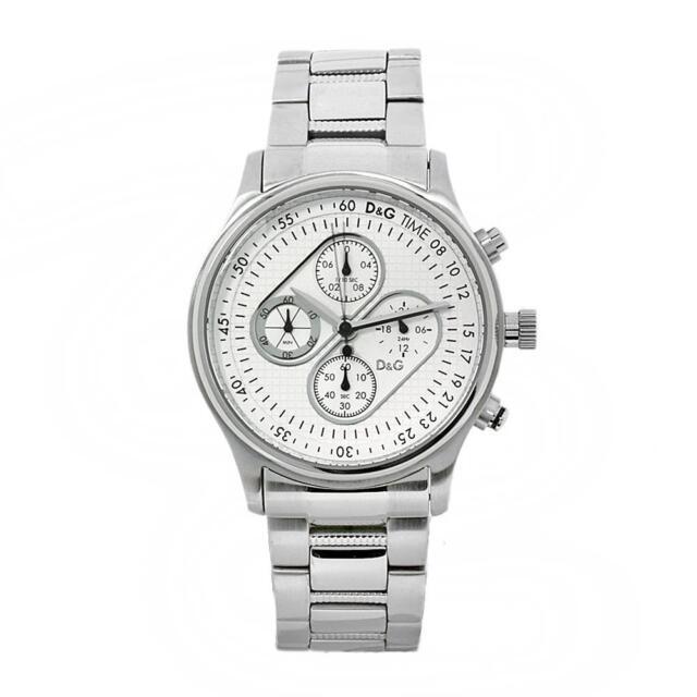 Dolce & Gabbana D&G LUXUS Uhr Herrenuhr Chronograph DW0431 Edelstahlarmband NEU