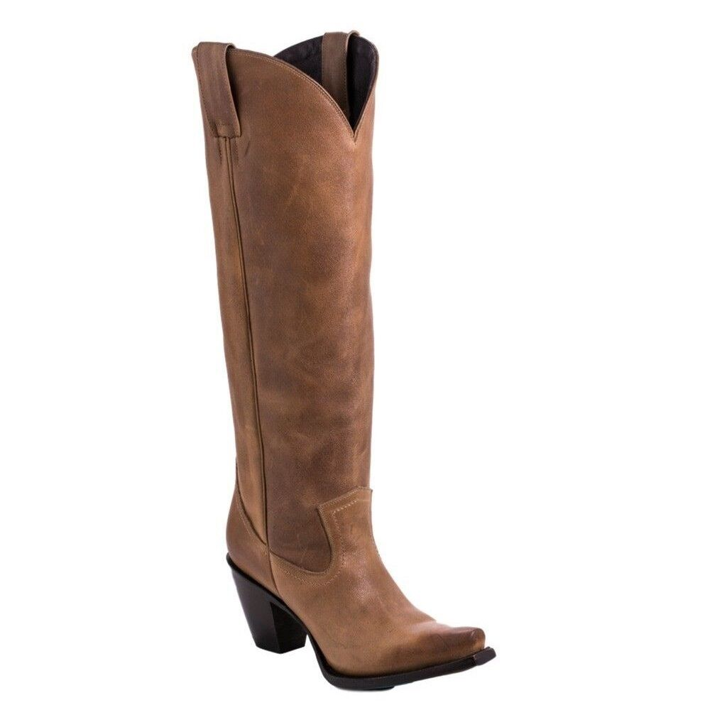 Western Boots Womens Julia Snip Toe Pull On 7.5 B Tan LB0351C