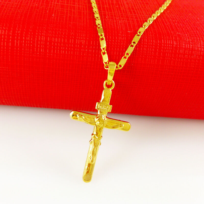 Men necklace 24k gold necklace top quality necklace cross pendant brand new lowest price aloadofball Gallery