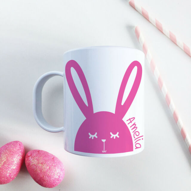 Personalised easter gift unbreakable kids cup modern bunny pink personalised easter gift unbreakable kids cup modern bunny pink toddler mug negle Gallery