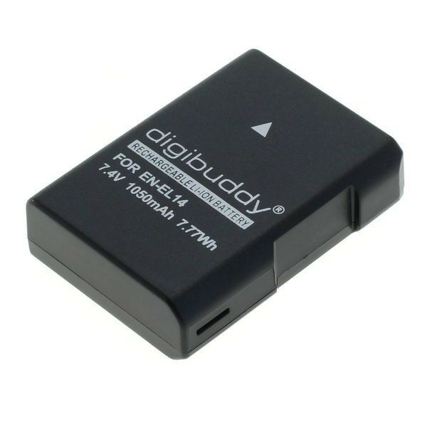 digibuddy Akku kompatibel zu Nikon EN-EL14 / EN-EL14a Li-Ion Ersatzakku Power
