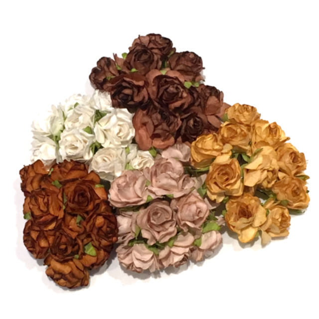 Bulk buy shades of brown classic mulberry paper roses cr051 ebay bulk buy shades of brown classic mulberry paper flowers roses card making cr051 mightylinksfo