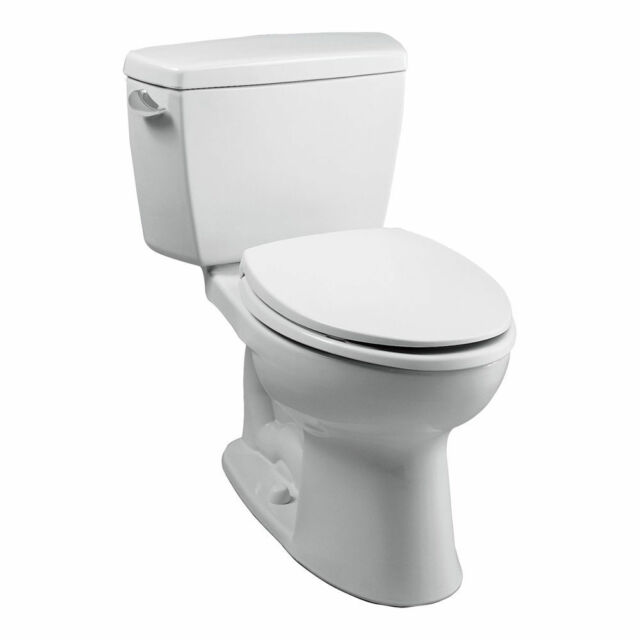 Toto CST744S01 Cotton White Two Piece Drake Toilet With Elongated Bowl And Tank