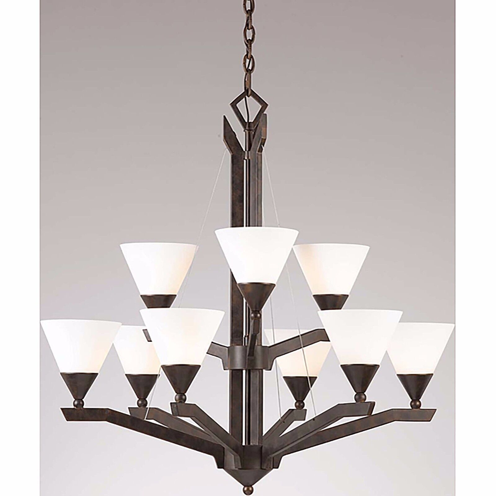 Triarch 29634 sherwood chandeliers english bronze ebay picture 1 of 2 arubaitofo Image collections