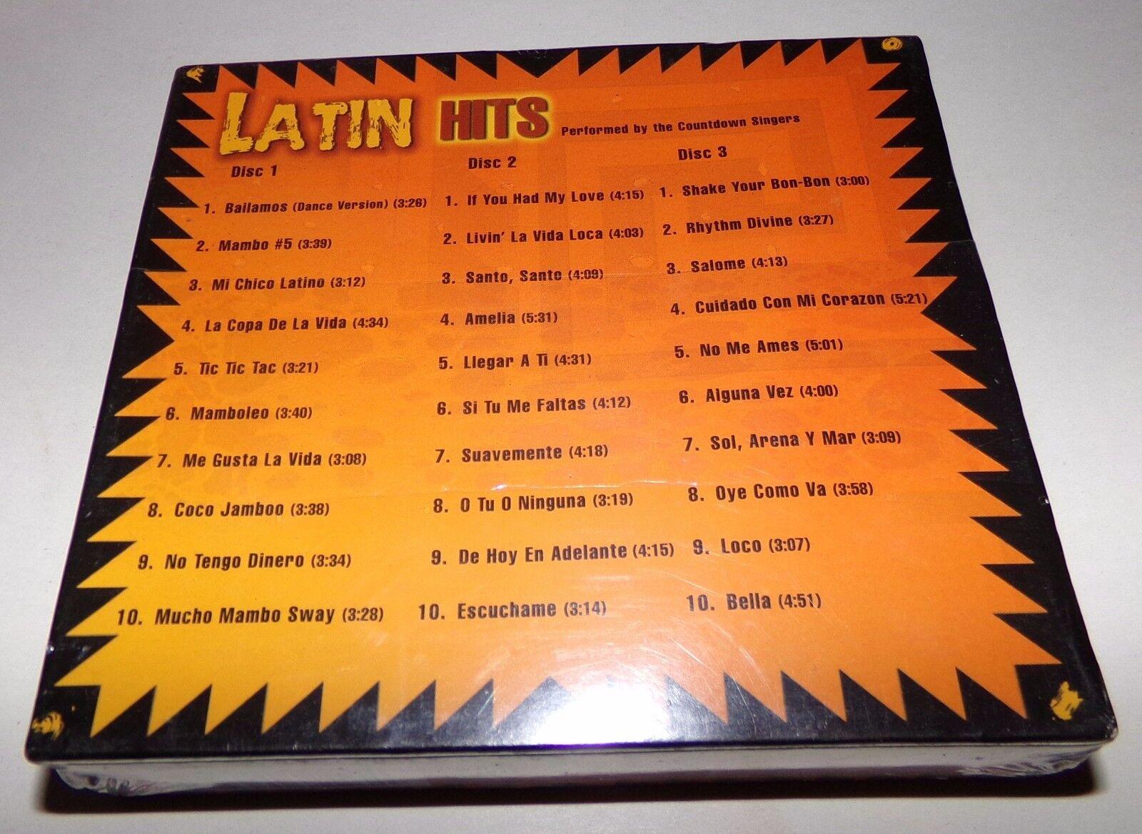 latin hits vols 1 2 3 box by the countdown singers cd 2000