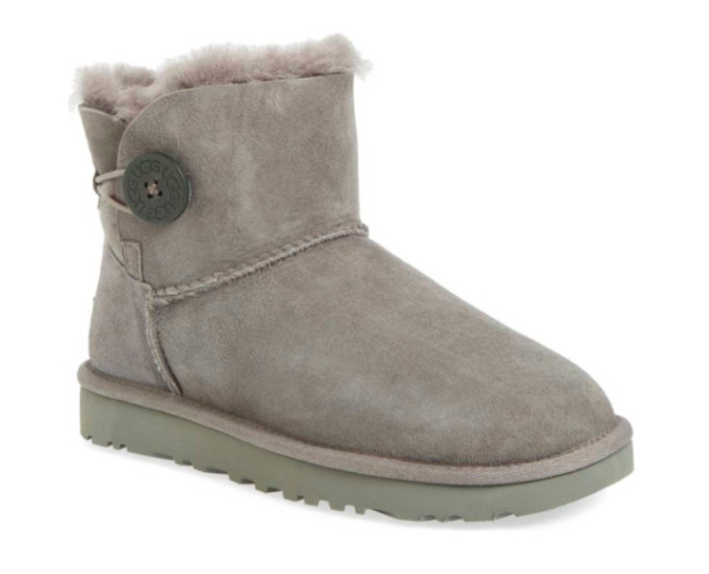 UGG Women's Mini Bailey Button II Boots - GREY - SALE