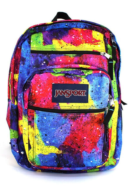 JanSport Big Student Multi Neon Galaxy Backpack TDN7ZF6 Fast Ship ...