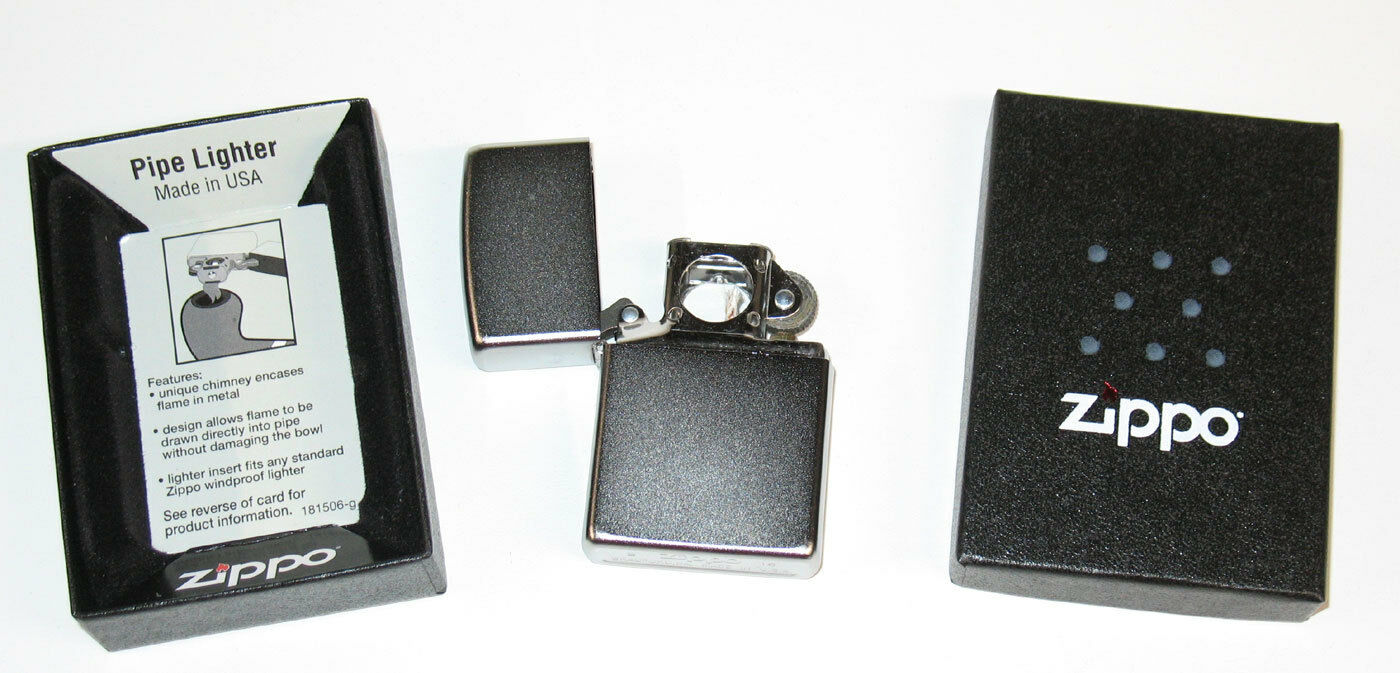 Pipe Lighter Authentic Zippo 205 Matte Chrome With Side