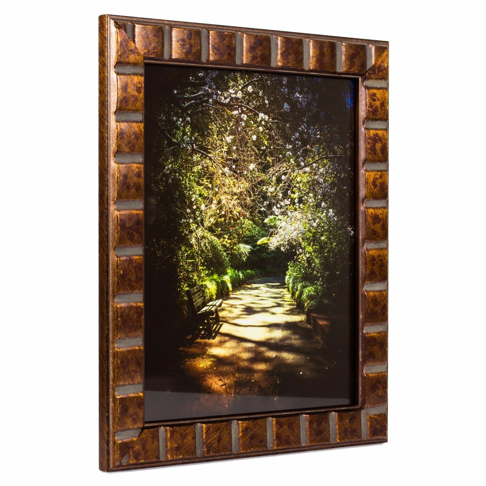 Craig frames mosaic 113 inch aged bronze solid wood picture frame 8 jeuxipadfo Image collections