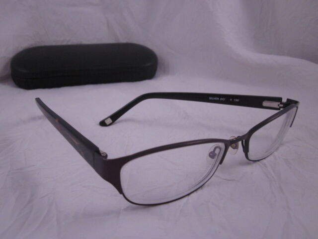 Silver Dollar RX Eyeglasses Cafe 3152 Purple Full Rim Metal Plastic ...