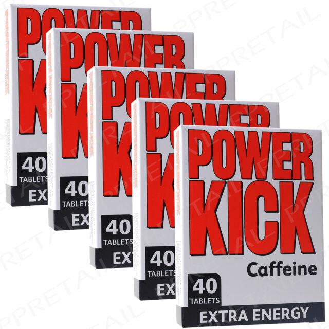 200x POWER KICK TABLETS 1 MONTHS SUPPLY Extra Energy Anti Fatigue Caffeine Pills