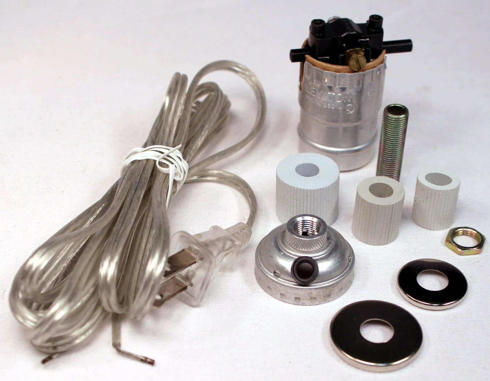 silver make a lamp wiring kit for wine oil bottle lamp conversion or rh ebay com lamp wiring kit walmart lamp wiring kit lowes