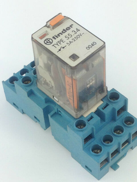 Finder Type 55 34 Relay With Base Coil 110vac 4x Co