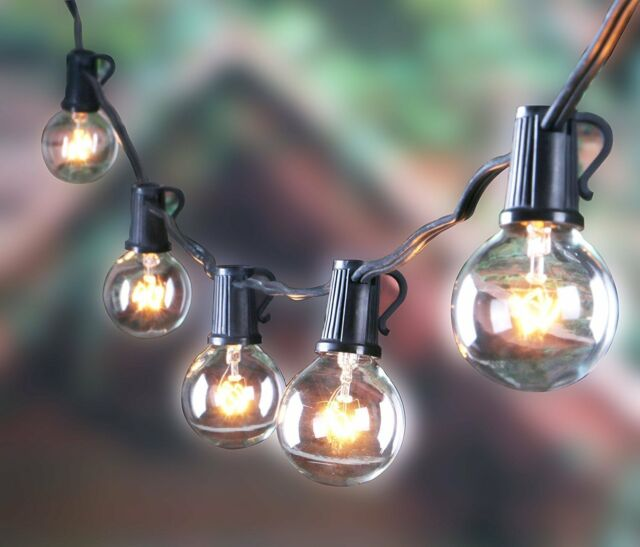 Patio Light Bulbs 25ft outdoor g40 globe string lights vintage backyard patio with 25 25ft outdoor g40 globe string lights vintage backyard patio lights with 25 workwithnaturefo