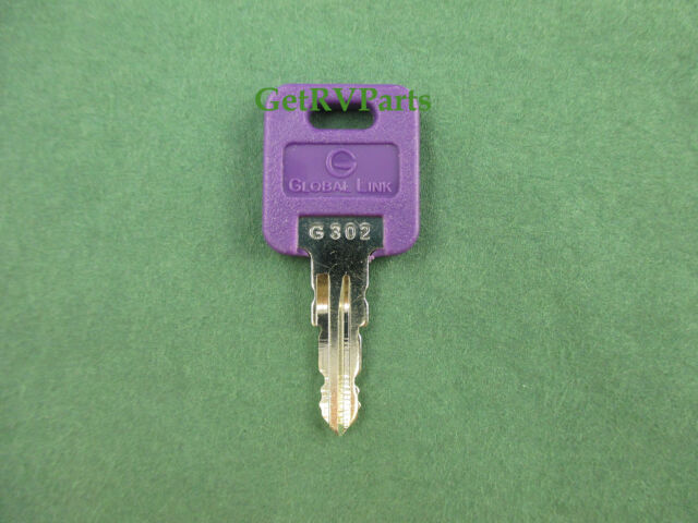 2 Global Link Replacement Rv Black Head Key Code G 302 Door Lock Ebay