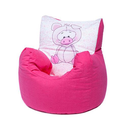 Pink Pig Childrens Character Filled Beanbag Kids Bean Bag Chair Bedroom