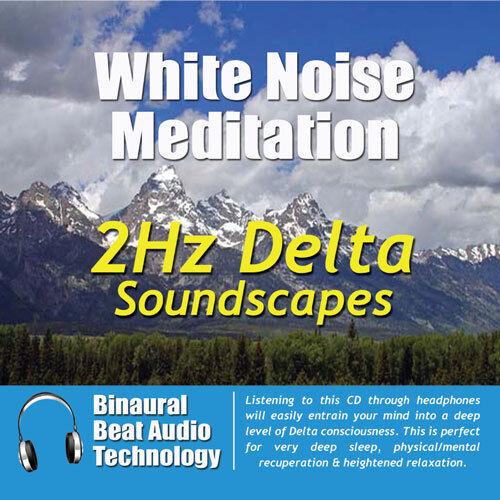 White Noise Meditation: 2 Hz Delta Soundscapes by Various Artists (CD, Sep-2008,