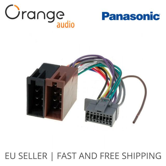 panasonic 16 pin to iso lead wiring loom adaptor wire radio rh ebay com Clarion Wiring Harness Wiring Harness Pins
