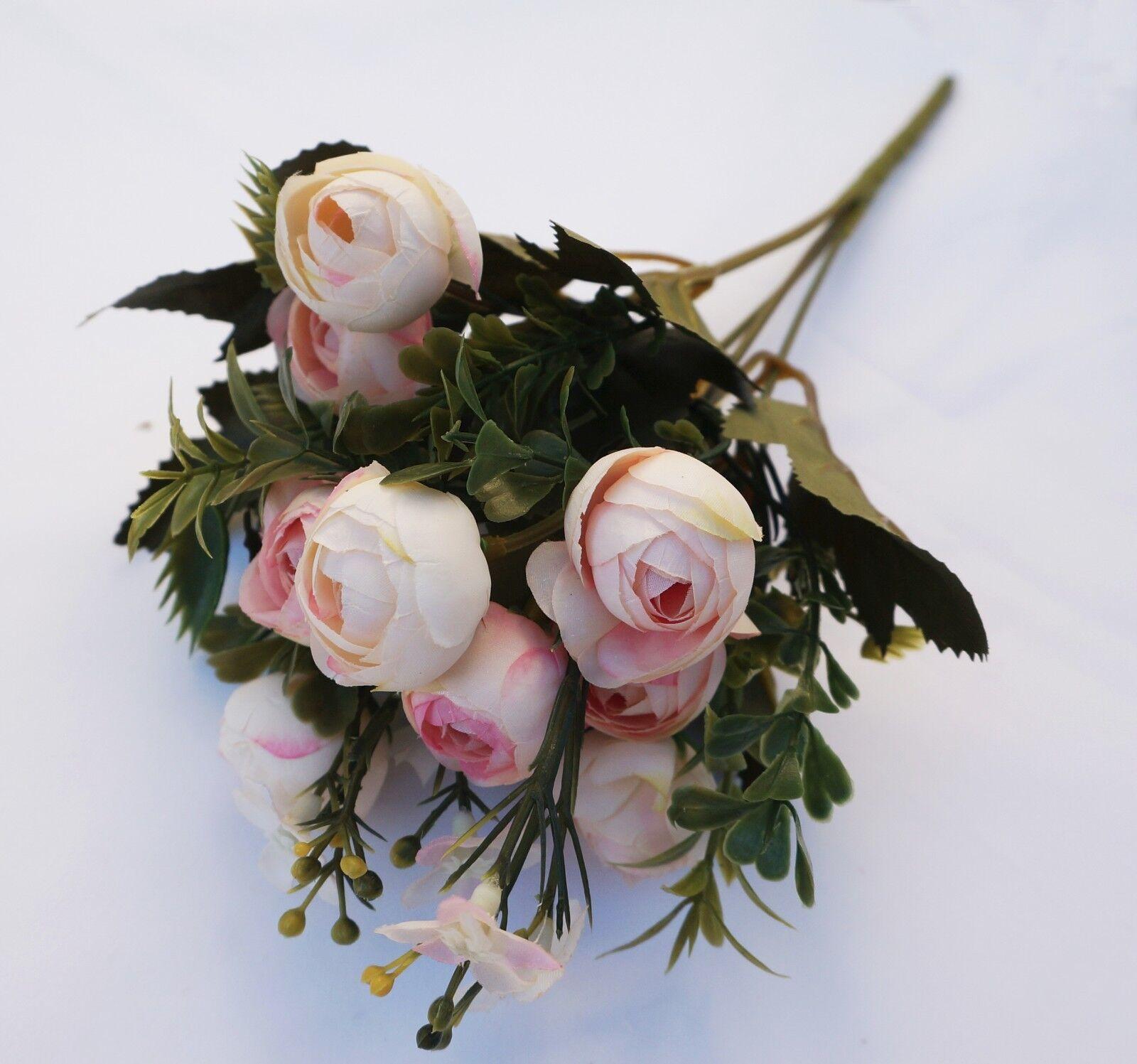 Shans silk flower artificial home wedding decor bridal bouquet 4 picture 2 of 4 izmirmasajfo