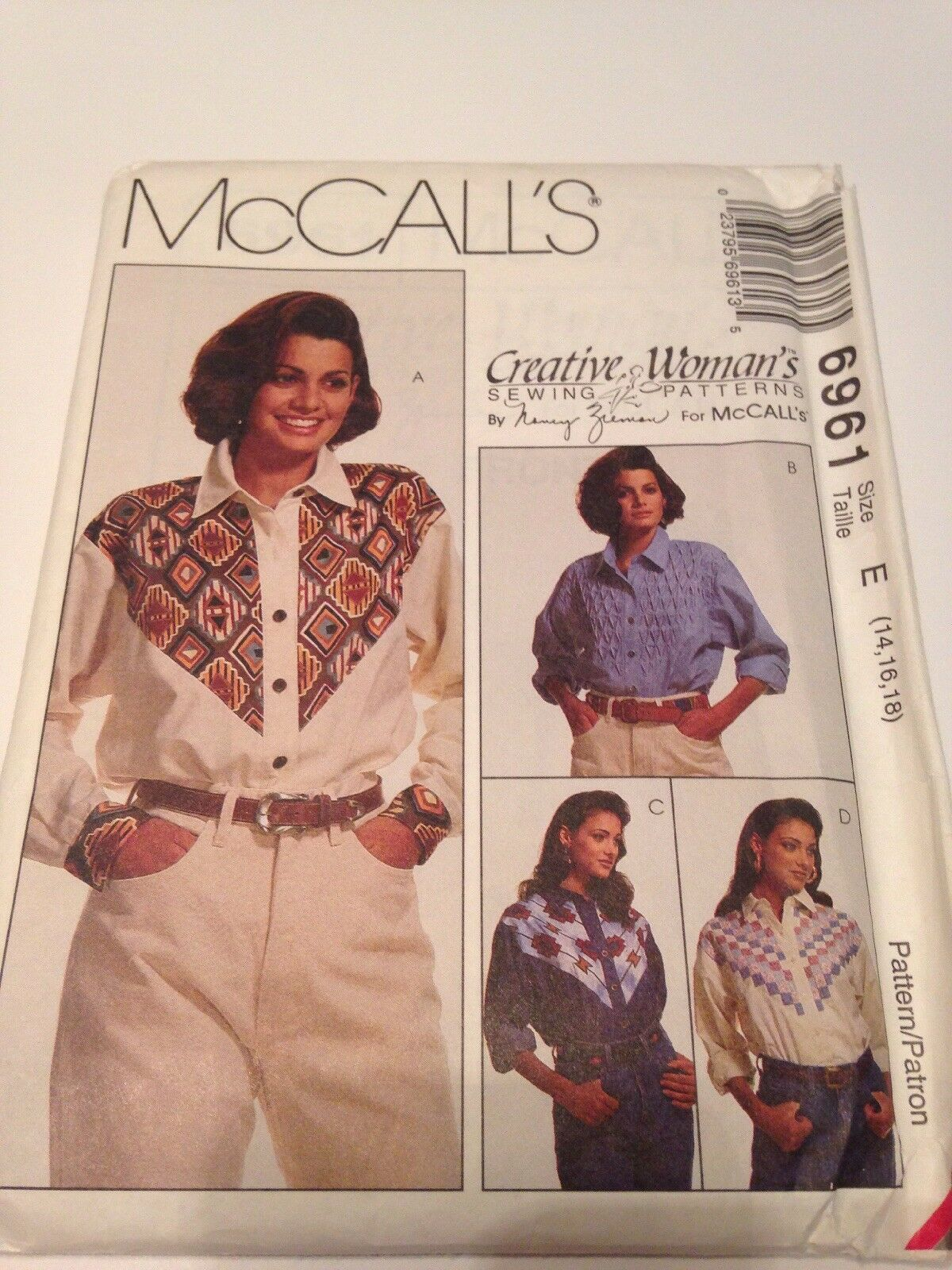 Uncut 6961 mccalls sewing pattern western shirt yoke variations picture 1 of 3 jeuxipadfo Images