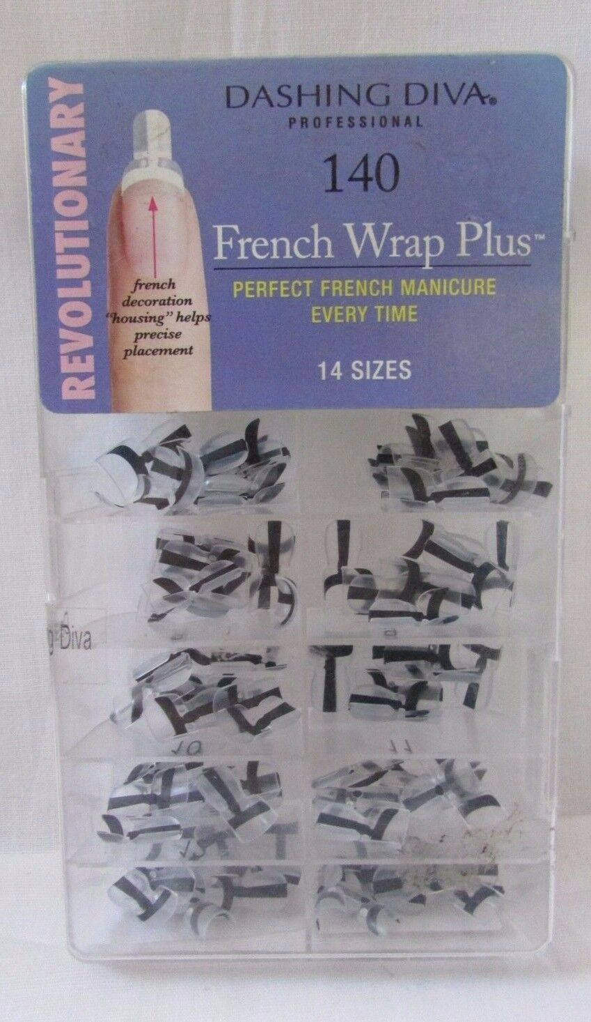 Dashing Diva French Wrap Plus Thin Black 140 Count | eBay