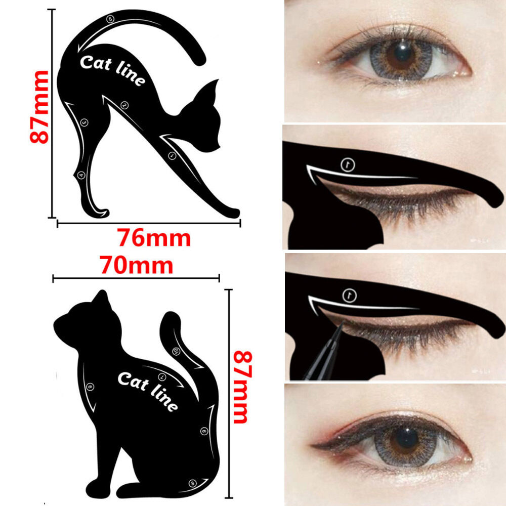 How To Make A Cat Eyeliner Stencil