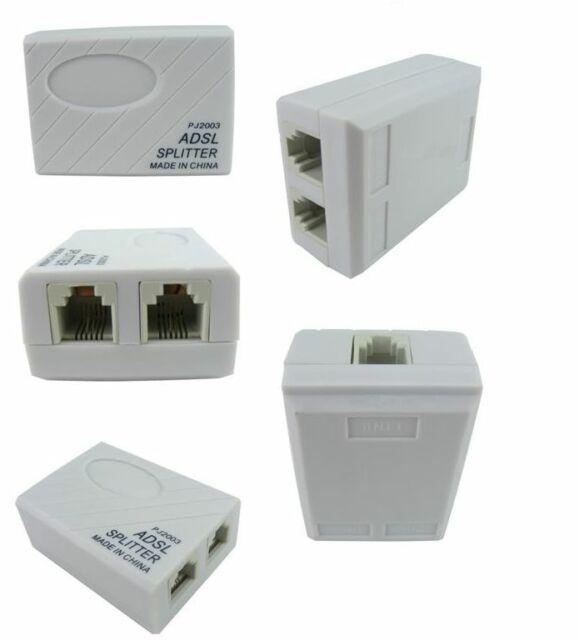 Phone Telephone ADSL Modem RJ11 Line Splitter Filter