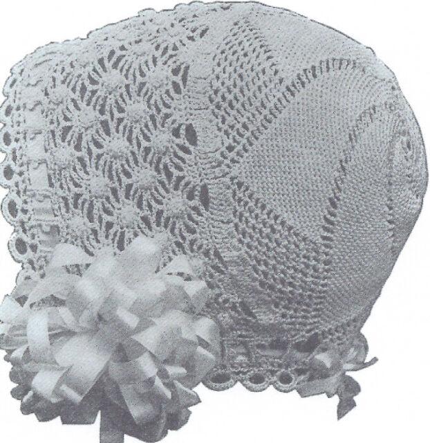 Vintage Antique Crochet Pattern To Make 1915 Baby Cap Hat Bonnet