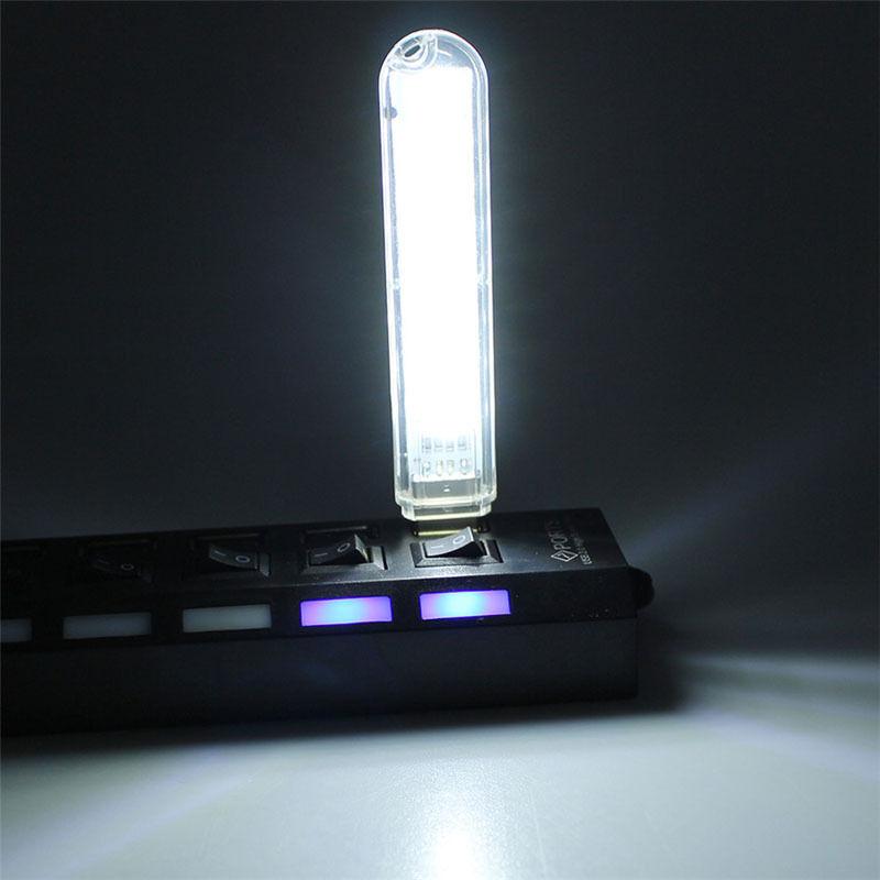 Mobile Power 5v 8 LEDs USB LED Lamp Lighting Computer Night Light ...